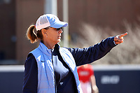 GREENSBORO, NC - FEBRUARY 22: Head coach Donna J. Papa of the University of North Carolina during a game between Fairfield and North Carolina at UNCG Softball Stadium on February 22, 2020 in Greensboro, North Carolina.