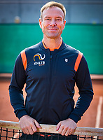 Almere, Netherlands, April 3, 2018, New clothes KSwiss for KNLTB staff, fitness coach, Miguel Janssen<br /> Photo: Tennisimages/Henk Koster