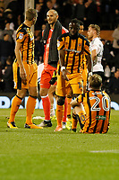 Jarrod Bowen of Hull City is disconsolate at the final whistle during the Sky Bet Championship match between Fulham and Hull City at Craven Cottage, London, England on 13 September 2017. Photo by Carlton Myrie.