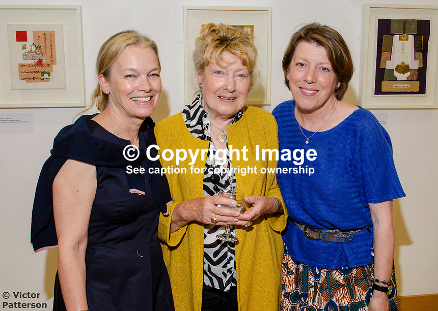 Mavis Thomson, artist, with daughters, Marion (left) and Sydney, both accomplished artists in their own right. Mavis, who lives in Enniskillen, Co Fermanagh, N Ireland, is a member of the Royal Ulster Academy, Ulster Society of Woman Artists, Watercolour Society of Ireland, Ulster Watercolour Society and the Turner Society. 201805254872<br />