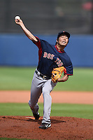 Boston Red Sox pitcher Koji Uehara (19) during a spring training game against the Tampa Bay Rays on March 25, 2014 at Charlotte Sports Park in Port Charlotte, Florida.  Boston defeated Tampa Bay 4-2.  (Mike Janes/Four Seam Images)
