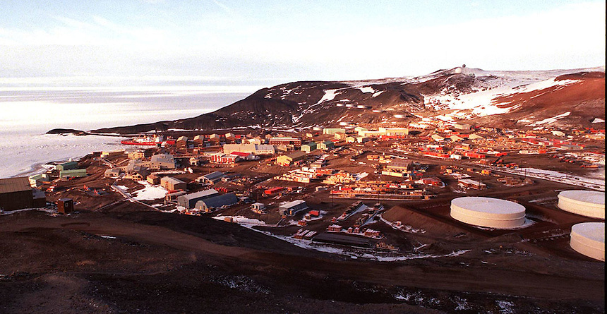 McMurdo Station, Antarctica. It is the largest outpost on the continent, run by the US Antarctica Program and the National Science Foundation.