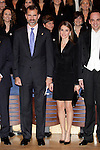 Prince Felipe of Spain and Princess Letizia of Spain attend the 22nd Prince of Asturias Awards concert in the Prince Felipe of Oviedo auditorium, in Asturias, Spain. October 24, 2013.(ALTERPHOTOS/Victor Blanco)