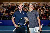 Alphen aan den Rijn, Netherlands, December 22, 2019, TV Nieuwe Sloot,  NK Tennis, Men's single final: Botic van de Zandschulp (NED) vs Tim van Rijthoven (NED) (R) before their match<br /> Photo: www.tennisimages.com/Henk Koster