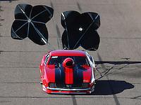 Feb 24, 2017; Chandler, AZ, USA; NHRA top sportsman driver Bud Preuss during qualifying for the Arizona Nationals at Wild Horse Pass Motorsports Park. Mandatory Credit: Mark J. Rebilas-USA TODAY Sports