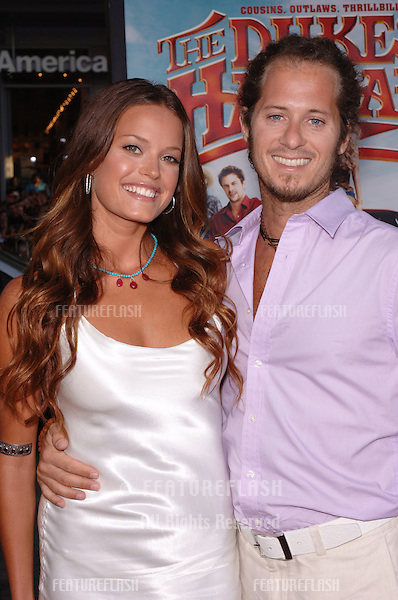 Australian actress JACQUI MAXWELL & fiancé at the Los Angeles premiere of her new movie The Dukes of Hazzard..July 28, 2005 Los Angeles, CA.© 2005 Paul Smith / Featureflash
