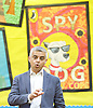 Sadiq Khan &amp; Labour candidate Dr Rosena Allin-Khan visit a school assembly at Trinity St Mary's Primary School in Balham, London, Great Britain where Dr Rosena was a pupil. <br />