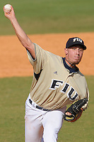 2 March 2008: Florida International pitcher Daniel DeSimone (36) throws in relief in the top of the ninth inning of the FIU 8-3 victory over Wagner  at University Park Stadium in Miami, Florida.