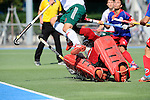 Mannheim, Germany, September 06: During the 1. Bundesliga Herren Saison 2014/15 field hockey match between Mannheimer HC and HTC Uhlenhorst Muehlheim on September 6, 2014  Mannheimer Hockey Club in Mannheim, Germany. Final score 2-2 (2-0). (Photo by Dirk Markgraf / www.265-images.com) *** Local caption *** Andreas Spaeck #1 of Mannheimer HC