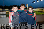 Mark Sheehan, Sean McEllegott and Donnacha Sayers from Crotta GAA enjoying a night at the Dogs on Friday