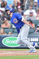 Chicago Cubs third baseman Kris Bryant (17) swings at a pitch during a game against the Atlanta Braves at Turner Field on June 11, 2016 in Atlanta, Georgia. The Cubs defeated the Braves 8-2. (Tony Farlow/Four Seam Images)