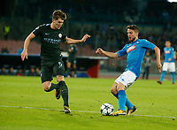 John Stones Dries Mertens  during the Champions League Group  soccer match between SSC Napoli - Manchester City   at the Stadio San Paolo in Naples 01 nov 2017