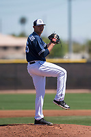San Diego Padres starting pitcher Nick Margevicius (66) prepares to deliver a pitch during an Extended Spring Training game against the Colorado Rockies at Peoria Sports Complex on March 30, 2018 in Peoria, Arizona. (Zachary Lucy/Four Seam Images)