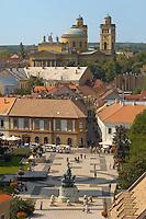 Dobo square from Eger Castle - Hungary