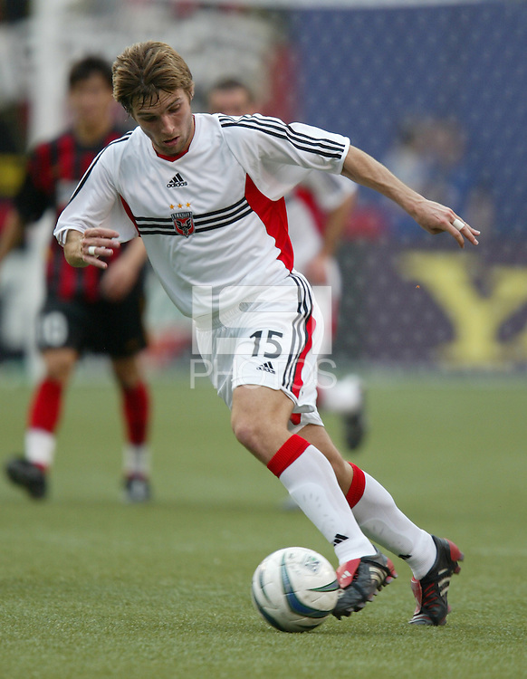 17 April 2004: DC United Bobby Convey in action against MetroStars at Giants' Stadium in East Rutherford, New Jersey.  MetroStars defeated DC United, 3-2.
