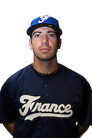 18 September 2012: Pierrick Le Mestre poses prior to Team France practice, at the 2012 World Baseball Classic Qualifier round, in Jupiter, Florida, USA.
