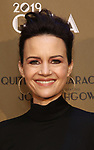 Carla Gugino attends the Roundabout Theatre Company's 2019 Gala honoring John Lithgow at the Ziegfeld Ballroom on February 25, 2019 in New York City.