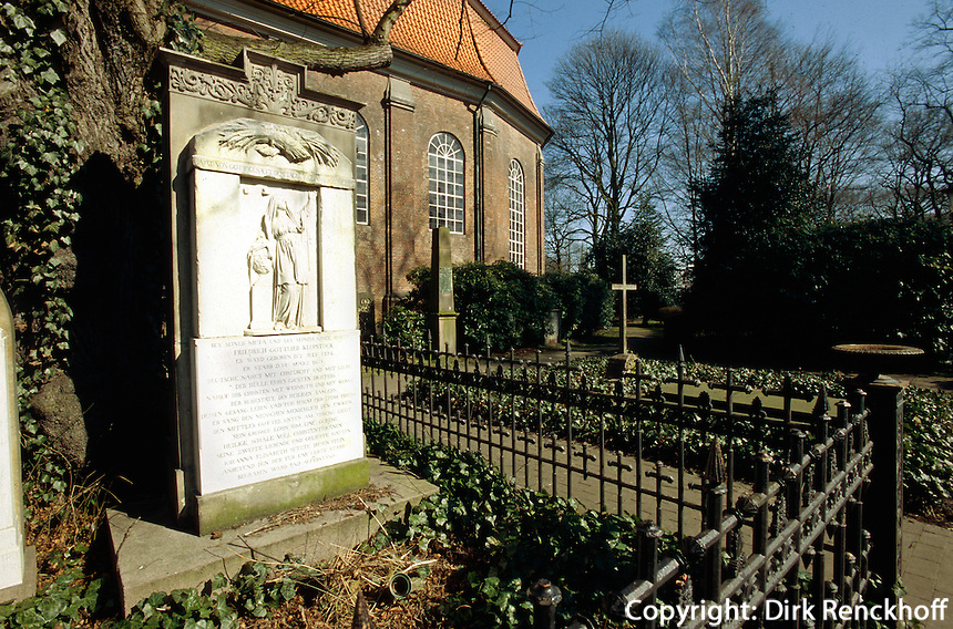 Grab von Klopstock an der Elbchaussee,  Hamburg-Altona, Deutschland