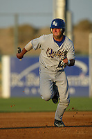 Michael Napoli of the Rancho Cucamonga Quakes runs the bases during a 2004 season California League game at The Hanger in Lancaster, California. (Larry Goren/Four Seam Images)