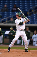 USF Bulls outfielder Luke Maglich (18) at bat during a game against the Louisville Cardinals on February 14, 2015 at Bright House Field in Clearwater, Florida.  Louisville defeated USF 7-3.  (Mike Janes/Four Seam Images)