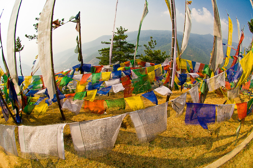 Prayer flags, Thimphu, Bhutan