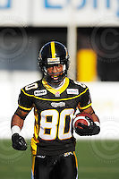June 23, 2009; Hamilton, ON, CAN; Hamilton Tiger-Cats wide receiver Jacob Willis (80). CFL football: Toronto Argonauts vs. Hamilton Tiger-Cats at Ivor Wynne Stadium. The Argos defeated the Tiger-Cats 27-17. Mandatory Credit: Ron Scheffler. Copyright (c) 2009 Ron Scheffler.