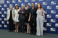 Marco Bellocchio, third from left, attends a photocall with actors, from left, Roberto Herlitzka, Lidiya Liberman, Alba Rohrwacher, Pier Giorgio Bellocchio and Federica Fracassi for the movie 'Blood Of My Blood' during the 72nd Venice Film Festival at the Palazzo Del Cinema in Venice, Italy, September 8, 2015.<br /> UPDATE IMAGES PRESS/Stephen Richie<br /> <br /> Alba Rohrwacher, Pier Giorgio Bellocchio and Federica Fracassi