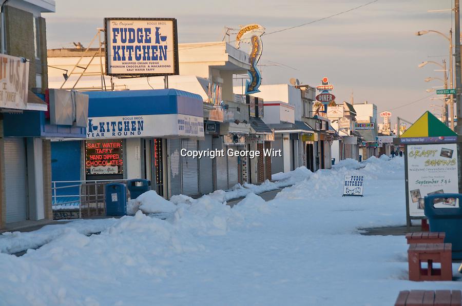 Blizzard Blankets Wildwood Boardwalk George Wirt