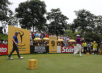 Good gallery on the 9th to watch Lee Westwood (ENG)  tee off during the Final Round of the 2014 Maybank Malaysian Open at the Kuala Lumpur Golf & Country Club, Kuala Lumpur, Malaysia. Picture:  David Lloyd / www.golffile.ie
