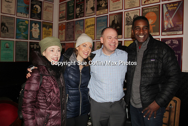 All My Children's Norm Lewis stars in the musicall The Music Man along with Veanne Cox (L) and Jessie Mueller at the Eisenhower Theater at the  John F. Kennedy Center for the Performing Arts, Washington D.C. in a sold out run and photos were taken on February 10, 2019 in the green room.  (Photo by Sue Coflin/Max Photo)