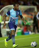Myles Weston of Wycombe Wanderers  during the Friendly match between Aldershot Town and Wycombe Wanderers at the EBB Stadium, Aldershot, England on 26 July 2016. Photo by Alan  Stanford.