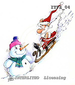Fabrizio, Comics, CHRISTMAS SANTA, SNOWMAN, paintings, ITFZ04,#x# stickers Weihnachten, Navidad, illustrations, pinturas