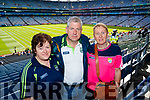 Marie Friel (Rathmore) Michael Friel (Rathmore) and Kay O'Leary (Kilcummin), pictured at the All Ireland Minor Football Final of Kerry v Derry in Croke Park on Sunday last.