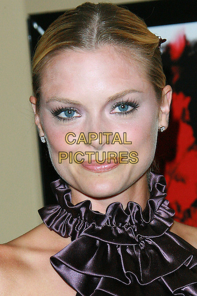 "JAIME KING.""The Tripper"" Los Angeles Premiere - Arrivals held at Mann's Chinese Theatre, Hollywood, California, LA, USA,.13 October 2006..portrait headshot purple silk satin ruffle collar neck blouse top .Ref: ADM/ZL.www.capitalpictures.com.sales@capitalpictures.com.©Zach Lipp/AdMedia/Capital Pictures."