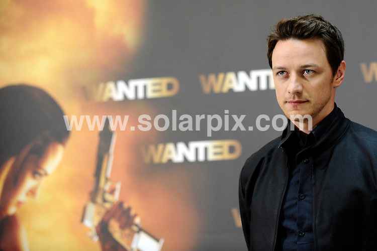 **ALL ROUND PICTURES FROM SOLARPIX.COM**.**SYNDICATION RIGHTS FOR UK AND SPAIN ONLY**.Photocall for the movie 'Wanted' at Hotel Adlon in Berlin, Germany. 10th June 2008..This pic: James McAvoy..JOB REF: 6600 CPR/Axel Schmidt DATE: 10_06_2008.**MUST CREDIT SOLARPIX.COM OR DOUBLE FEE WILL BE CHARGED* *UNDER NO CIRCUMSTANCES IS THIS IMAGE TO BE REPRODUCED FOR ANY ONLINE EDITION WITHOUT PRIOR PERMISSION*