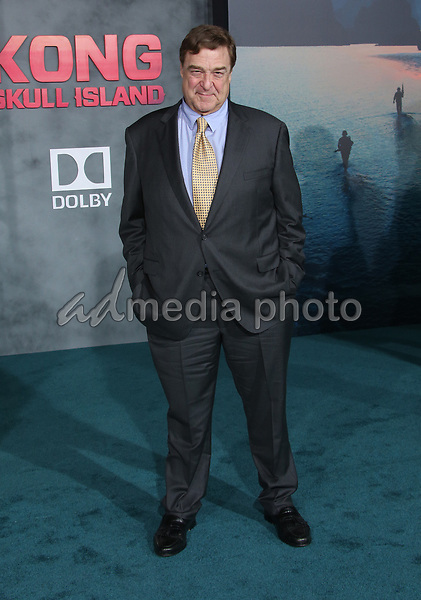 "08 March 2017 - Hollywood, California - John Goodman. ""Kong: Skull Island"" Los Angeles Premiere held at Dolby Theatre. Photo Credit: AdMedia"