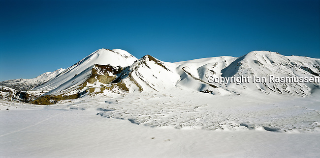 Tongariro Alpine Crossing, New Zealands <br /> premiere one day scenic walk in Tongariro National Park- central north Island-New Zealand