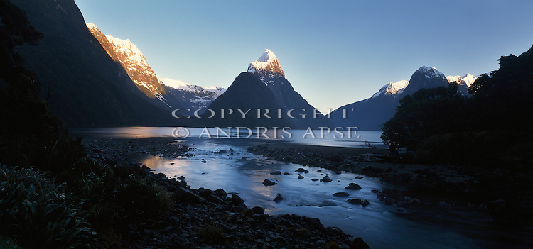Mitre Peak. Milford Sound. Fiordland National Park. New Zealand.