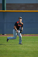 Dane Goodman (7) of Redwood High School in Ross, California during the Baseball Factory All-America Pre-Season Tournament, powered by Under Armour, on January 14, 2018 at Sloan Park Complex in Mesa, Arizona.  (Zachary Lucy/Four Seam Images)