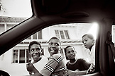 PANAMA, Colon, kids in the street (B&W)