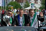 Handball Herren EHF-Cup Europapokal, Sieger Frisch Auf Goeppingen beim Autocorso