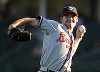 May 9, 2008: LHP Chad Rodgers (23) of the Rome Braves, Class A affiliate of the Atlanta Braves, prior to a game against the Greenville Drive at Fluor Field at the West End in Greenville, S.C.   Photo by:  Tom Priddy/Four Seam Images