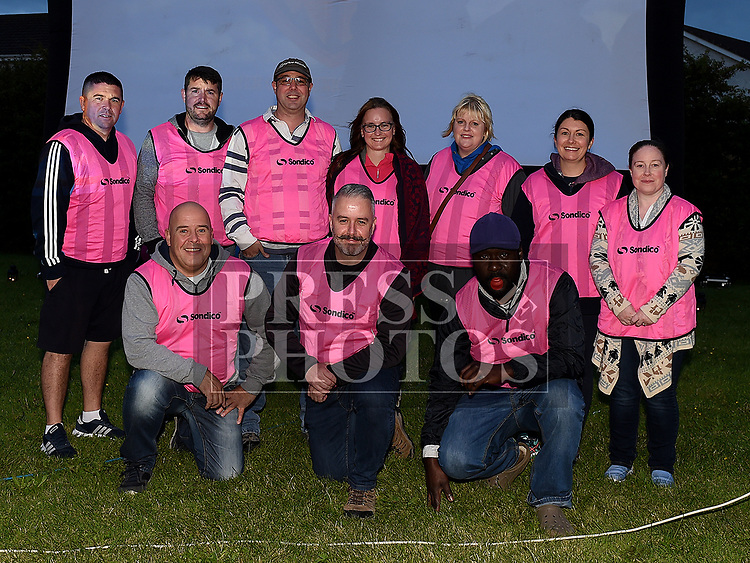 Organizing Committee and Volunteers at the outdoor cinema in Inse Bay Laytown. Photo:Colin Bell/pressphotos.ie