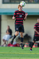 STANFORD, CA - August 19, 2014: Eric Verson during the Stanford vs CSU Bakersfield men's exhibition soccer match in Stanford, California.  Stanford won 1-0.