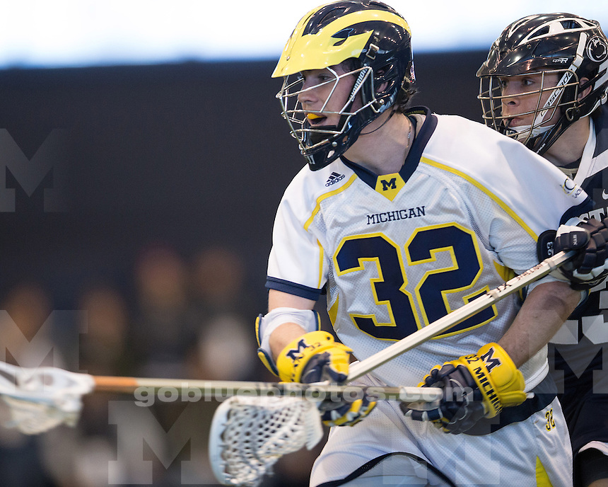 The University of Michigan men's lacrosse team lost to No. 15 Penn State, 11-6, at Oosterbaan Field House in Ann Arbor, Mich., on February 9, 2013.