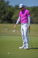 Dylan Frittelli (RSA) watches his putt on 2 during Round 4 of the Valero Texas Open, AT&amp;T Oaks Course, TPC San Antonio, San Antonio, Texas, USA. 4/22/2018.<br /> Picture: Golffile | Ken Murray<br /> <br /> <br /> All photo usage must carry mandatory copyright credit (&copy; Golffile | Ken Murray)