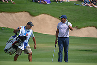 Jhonattan Vegas (VEN) after chipping up tight on 18 during day 3 of the Valero Texas Open, at the TPC San Antonio Oaks Course, San Antonio, Texas, USA. 4/6/2019.<br /> Picture: Golffile | Ken Murray<br /> <br /> <br /> All photo usage must carry mandatory copyright credit (&copy; Golffile | Ken Murray)