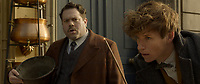 Fantastic Beasts: The Crimes of Grindelwald (2018) <br /> Eddie Redmayne &amp; Dan Fogler. <br /> *Filmstill - Editorial Use Only*<br /> CAP/MFS<br /> Image supplied by Capital Pictures