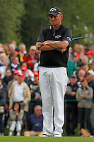Thomas Bjorn (DEN) on the 5th during the final day of the Omega European Masters, Crans-Sur-Sierre, Crans Montana, Switzerland.4/9/11.Picture: Golffile/Fran Caffrey..