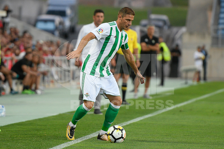 LOULE, PORTUGAL, 20.07.2017 - ALGARVE FOOTBALL CUP 2017: BENFICA x REAL BETIS - Joaquin, jogador do Betis, durante a partida de futebol a contar para o Algarve Football Cup 2017 entre Benfica e Real Betis, no Estádio do Algarve, em Louke, Portugal, nessa quinta 20. (Foto: Bruno de Carvalho / Brazil Photo Press)